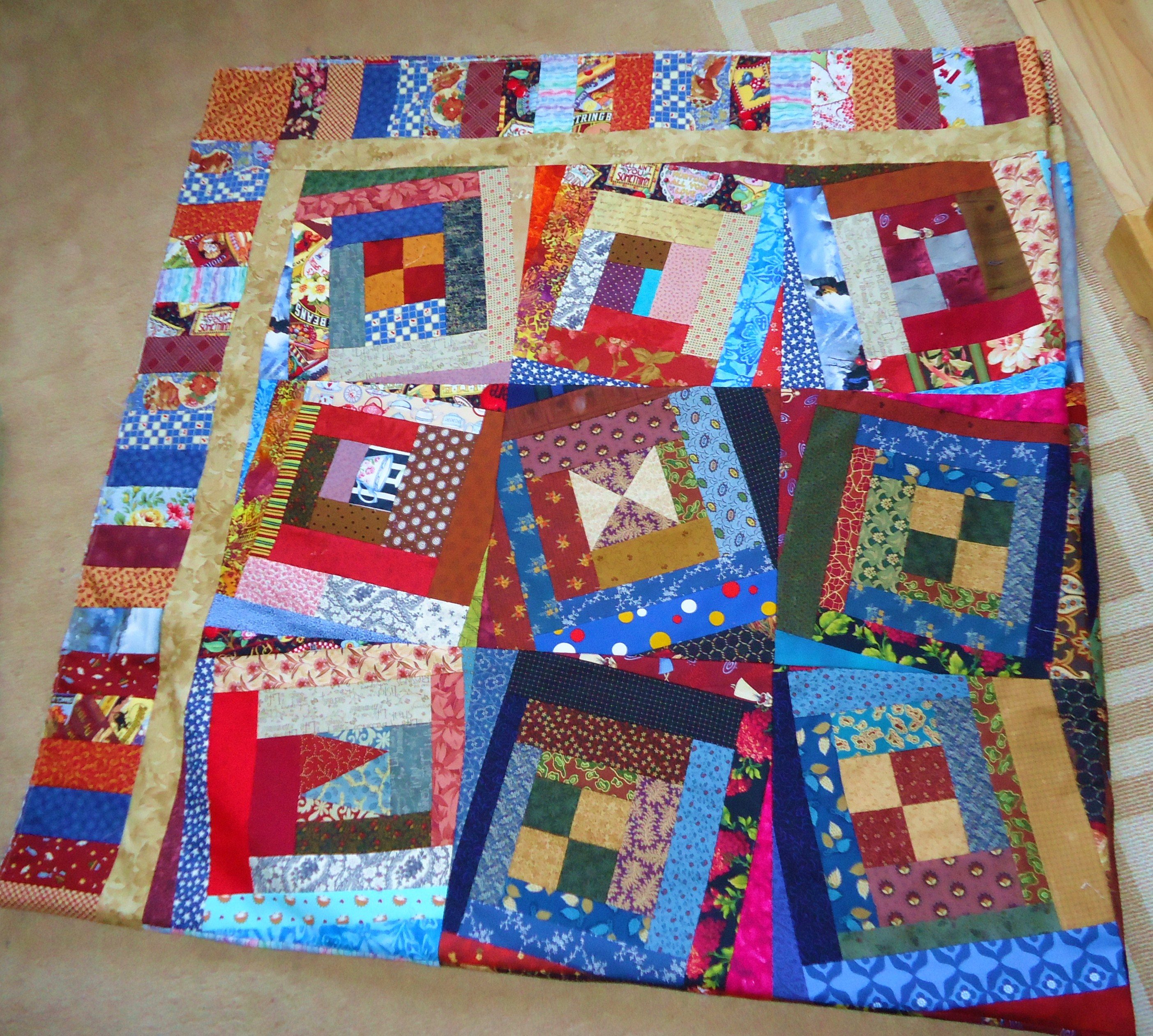 Wonky log cabin wins again lucie the happy quilter s