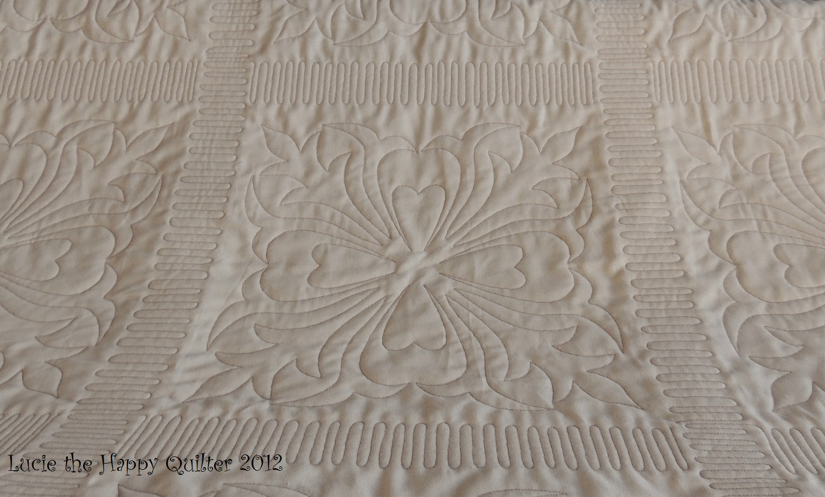 Free Motion Quilting Designs For Sashing : knitting Lucie The Happy Quilter s Blog