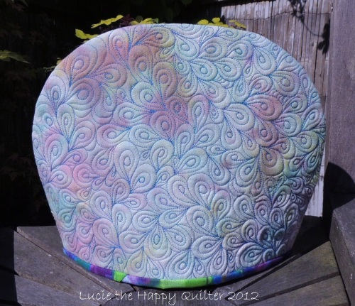 Hand Dyed Tea Cosy Back