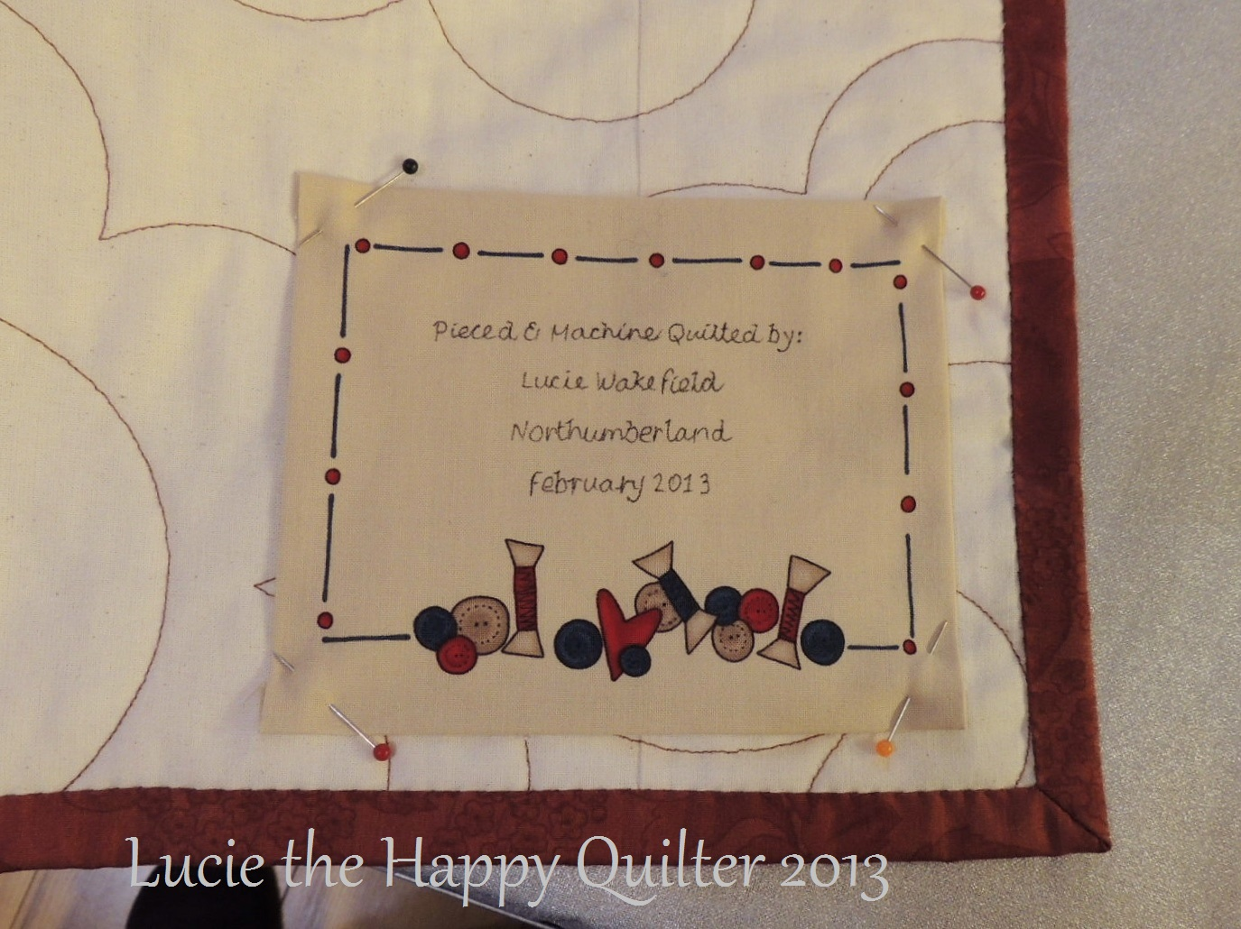 quilt labels | Lucie The Happy Quilter's Blog
