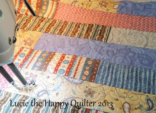 A wee bit of freemotion quilting