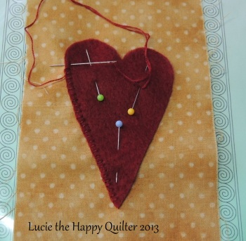 Blanket stitching heart
