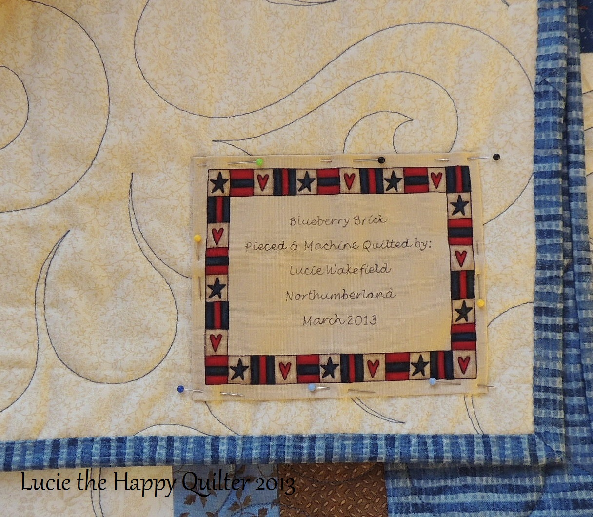 Quilt Label Templates : quilt labels Lucie The Happy Quilter s Blog