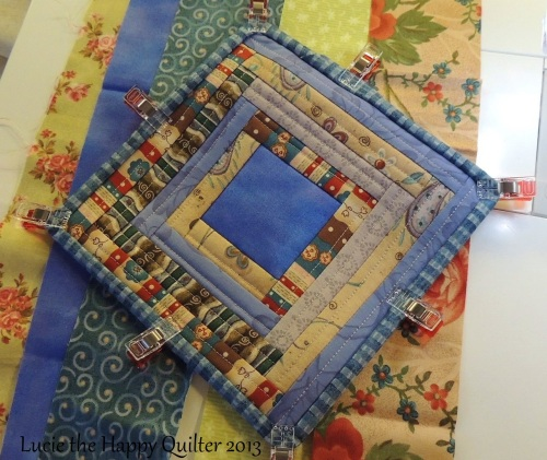 Quilt as you go log cabin 5