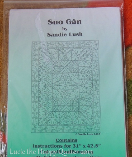 Sandie Lush wholecloth quilting