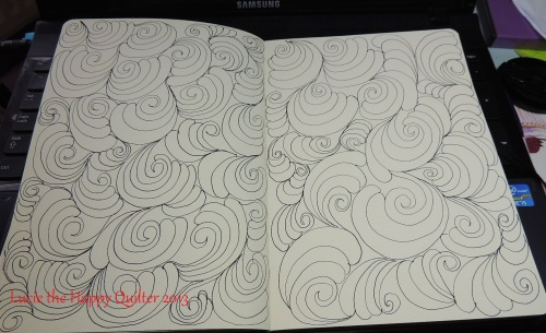 Simple Swirl Feathers on paper