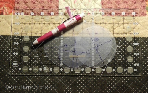 Tool for marking a quilt