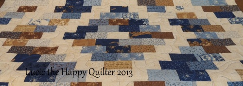 Blueberry Brick quilted
