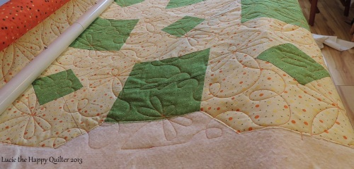 Sheilas quilt is shaped