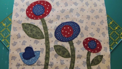 Blanket Stitch Applique Cushion Cover 1