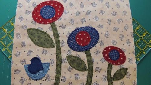 Blanket Stitch Applique Cushion Cover 1