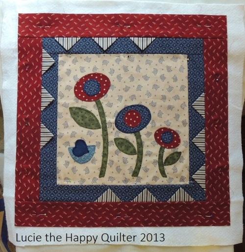 Blanket Stitch Applique Cushion Cover 2