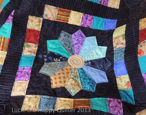 Scrappy Dresden Finally Quilted