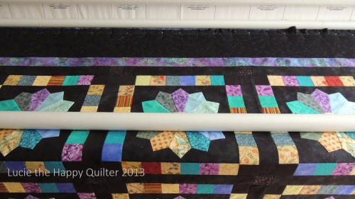 Scrappy Dresden Loaded ready for longarm quilting