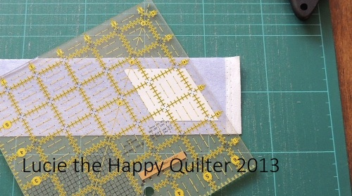 Cutting Fabric Diamond Shapes 2