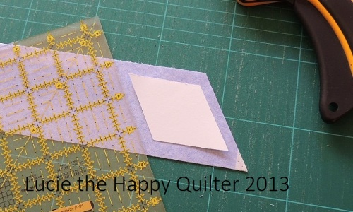 Cutting Fabric Diamond Shapes 3