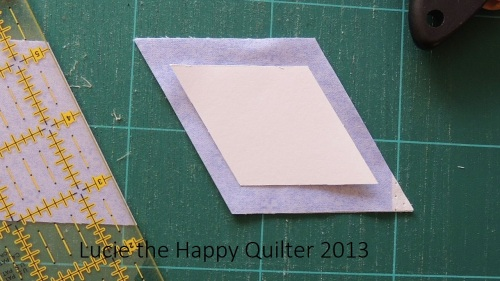 Cutting Fabric Diamond Shapes 4