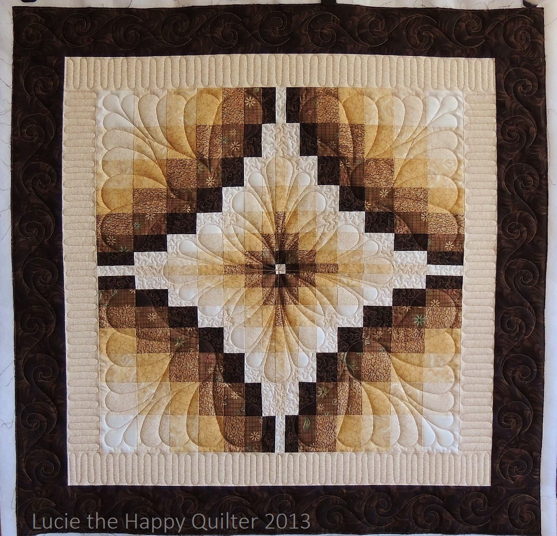 It took me a long time to choose quilting designs for this quilt. In ...