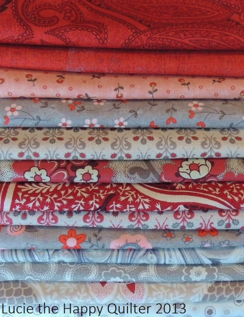 Selection of fabric for Whimsical Applique and Stitchery project