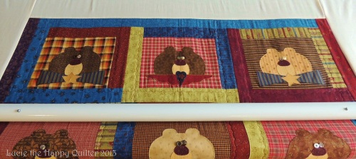 Bear Quilt gifted by Stitchin' Heaven