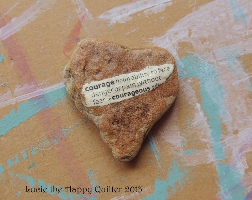 Courage Heart Stone