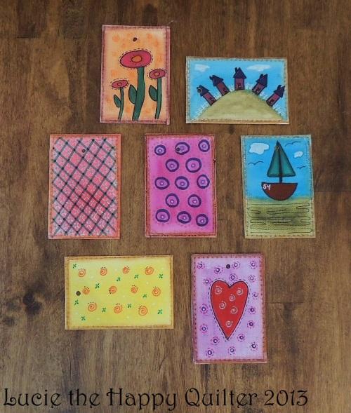 Last week's doodle cards