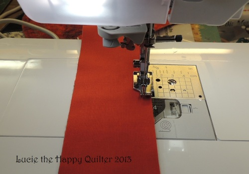 Sewing strips for borders