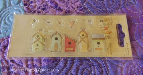 Birdhouses rubber stamp