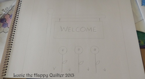 Welcome block on paper