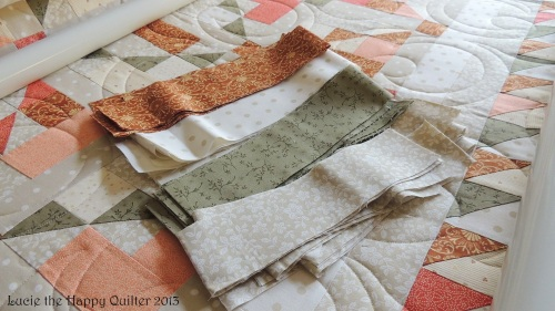 Margarets strips for binding