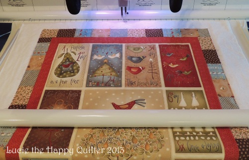 12 Days of Christmas longarm quilted