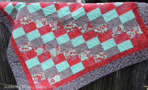 Blitzen quilt ready to snuggle under