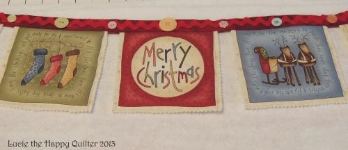Christmas Bunting progress 2