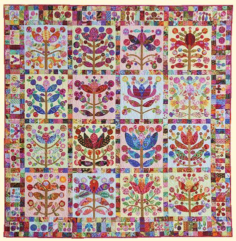 Lollypop Tree Quilt designed by Kim McLean