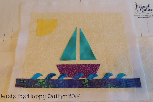 Sailboat patches layout