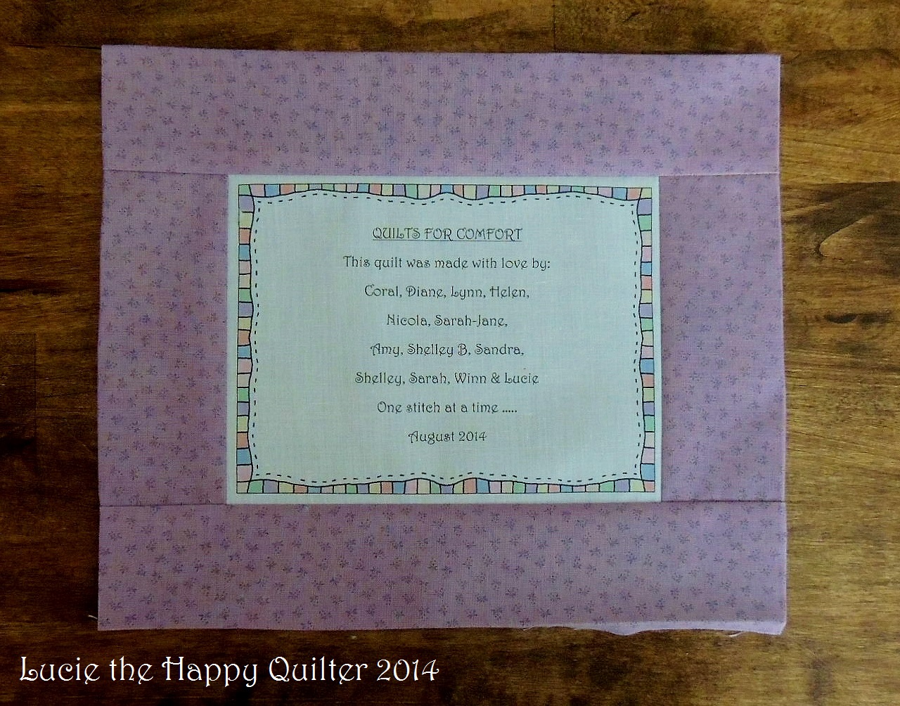 August | 2014 | Lucie The Happy Quilter's Blog : quilt labels samples - Adamdwight.com