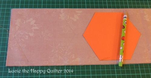 Cutting fabric hexies 2