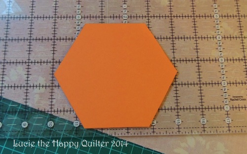 Cutting fabric hexies