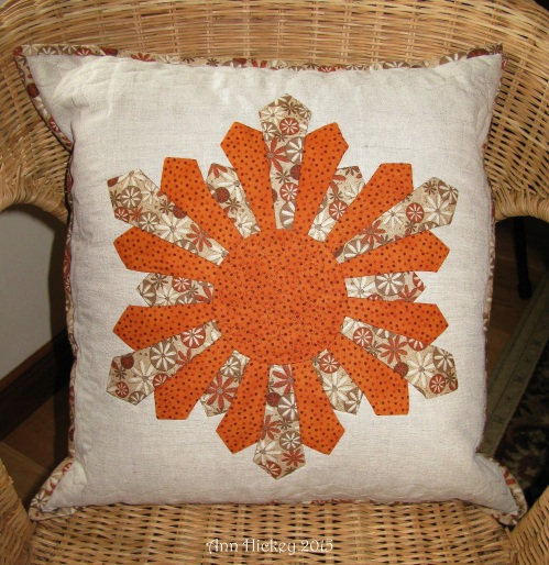 Ann Hickey Snowflake Dresden Cushion