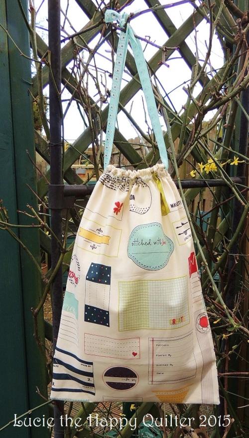 Quilt Label Drawstring Bag