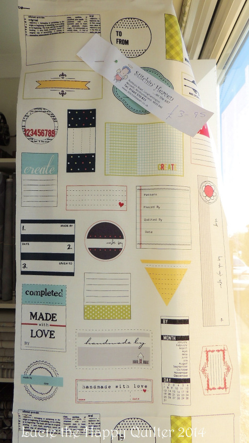 quilt labels panel