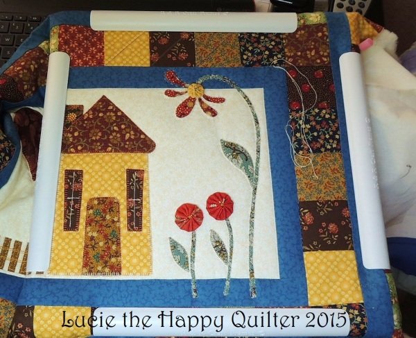 Adding Yo-Yos and hand quilting