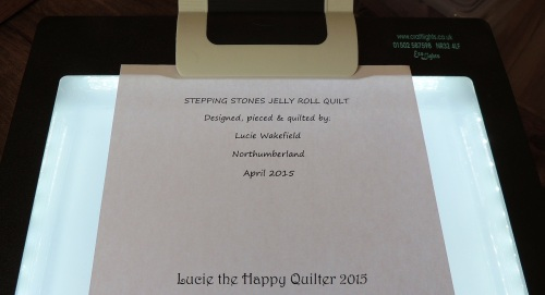 Making quilt labels