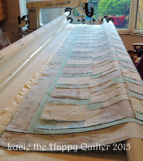 Step 3 floating the quilt top