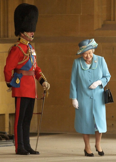 The Queen having a giggle
