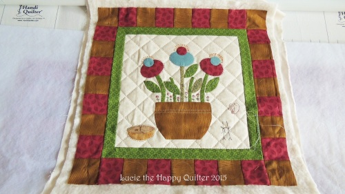 Hand quilting example