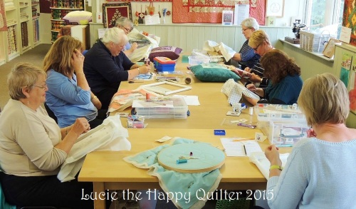 Hand quilting ladies