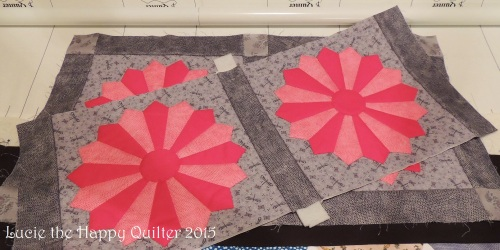 Joining quilted blocks