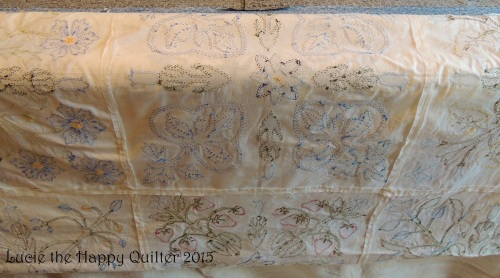 The back of Veronicas applique quilt