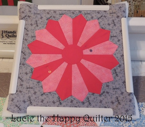 Using a quilting hoop